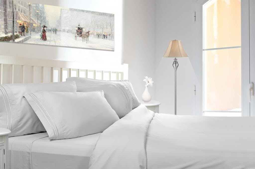 Ordinaire Clara Clark 1800 Series Deep Pocket 5pc Bed Sheet Set Split King Size, White