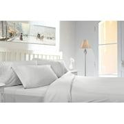 Clara Clark 1800 Series Deep Pocket 4pc Bed Sheet Set Queen Size, White