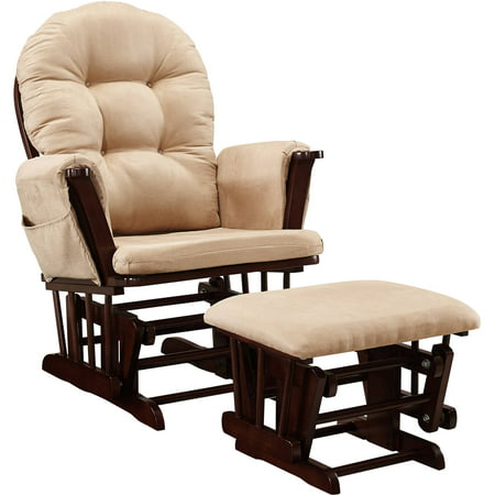 Baby relax harbour glider rocker and ottoman espresso with for Chaise bercante allaitement