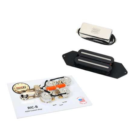 Duncan SRB-1 Pickup Set for Rickenbacker B Guitar + 920D RIC-B ...