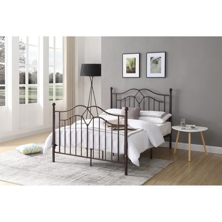 Hodedah Imports Arched Metal Spindle Poster Bed