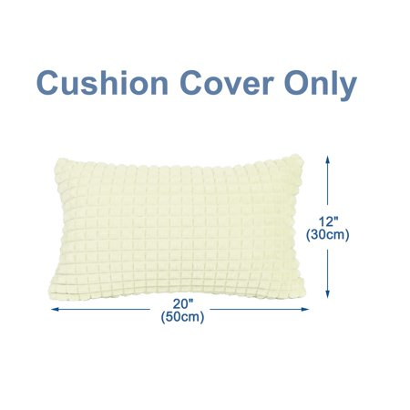 Pack of 2, Plush Throw Pillow Cases Faux Fur Cushion Cover Deluxe Home Decorative for Sofa Couch Bed Car (12 x 20 Inch 3 - image 1 de 8