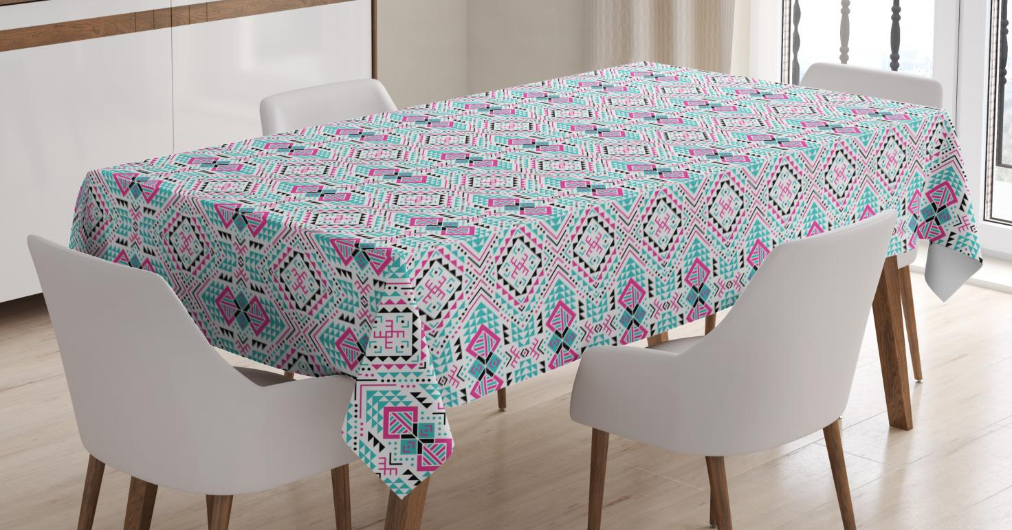 Guatemalan Tablecloth Funky Tribal Traditional With