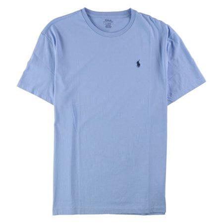 Ralph Lauren Mens Solid Color Basic T-Shirt, Blue, Large