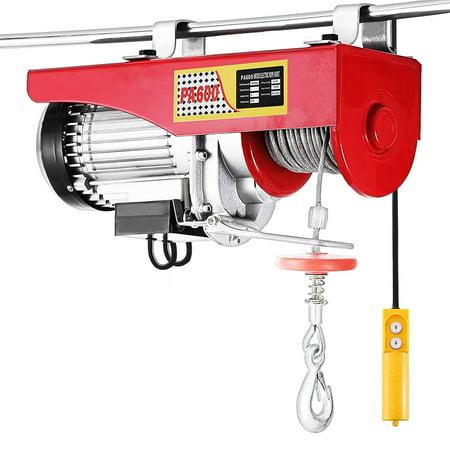 BestEquip Electric Hoist Lift 1320LBS 600KG Overhead Electric Hoist 110V Electric Wire Hoist Remote Control Garage Auto Shop Overhead Lift