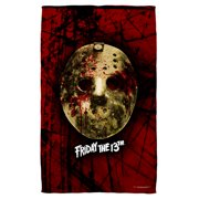 Friday The 13Th Bloody Mask Beach Towel White 36X58