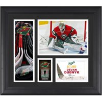 """Devan Dubnyk Minnesota Wild Framed 15"""" x 17"""" Player Collage with a Piece of Game-Used Puck"""