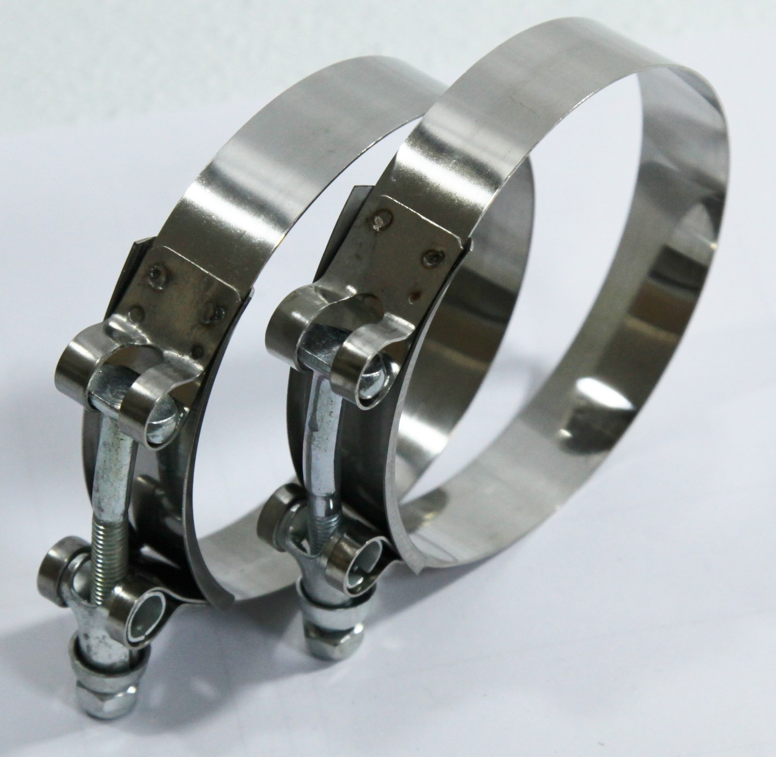 "2x3"" Stainless Steel T-Bolt Clamps for Silicone Coupler Intercooler Turbo Intake"