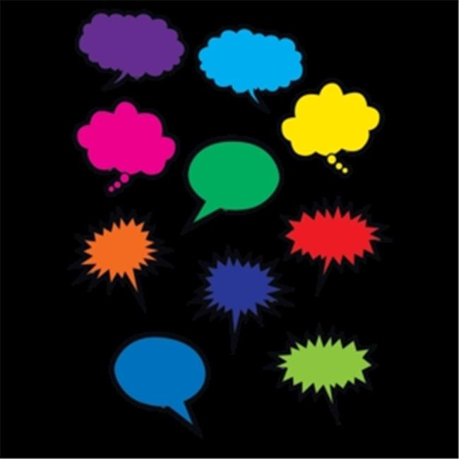 Colorful Speech Thought Bubbles - image 1 of 1