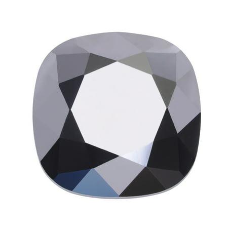 Swarovski Crystal, #4470 Cushion Fancy Stone 12mm, 1 Piece, Crystal Light Chrome Foiled