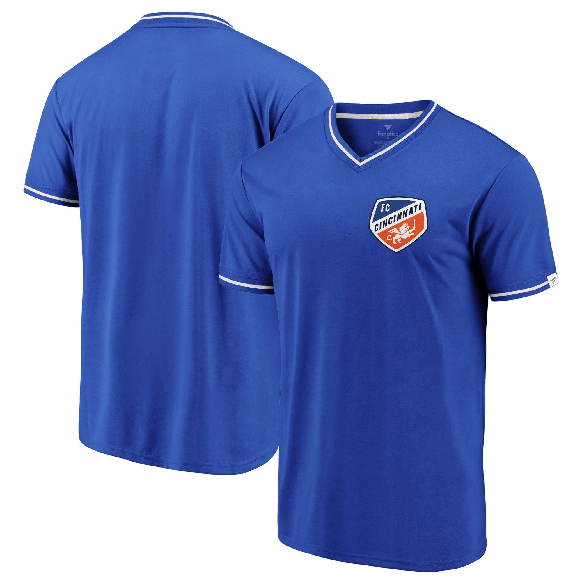 FC Cincinnati Fanatics Branded True Classics Stripe V-Neck T-Shirt - Royal