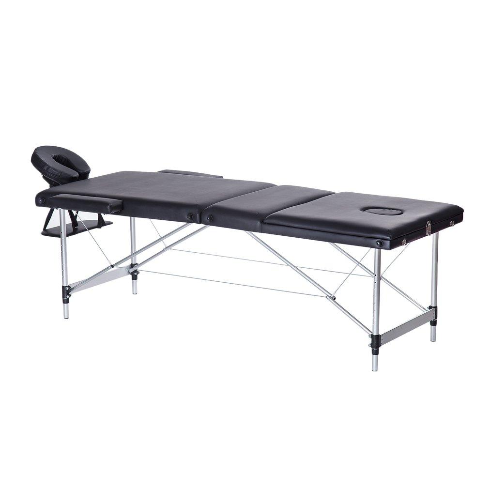 3 Fold Aluminium Alloy Massage Table Facial SPA Bed Profe...