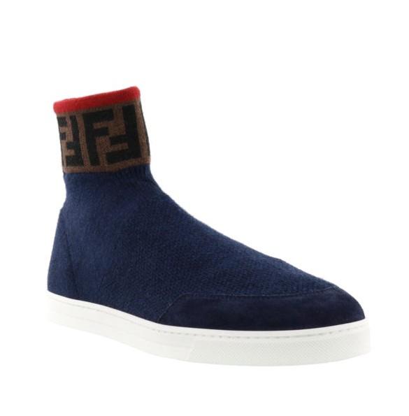 Blue Knit Wool Sock Sneakers - Walmart