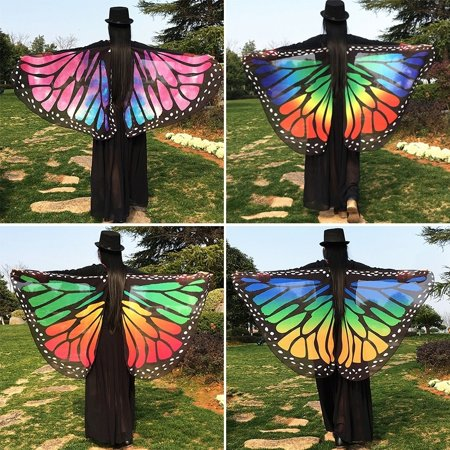 Colorful Soft Fabric Butterfly Wings Fairy Ladies Nymph Pixie Costume Accessory Little Fairy Butterfly Wings