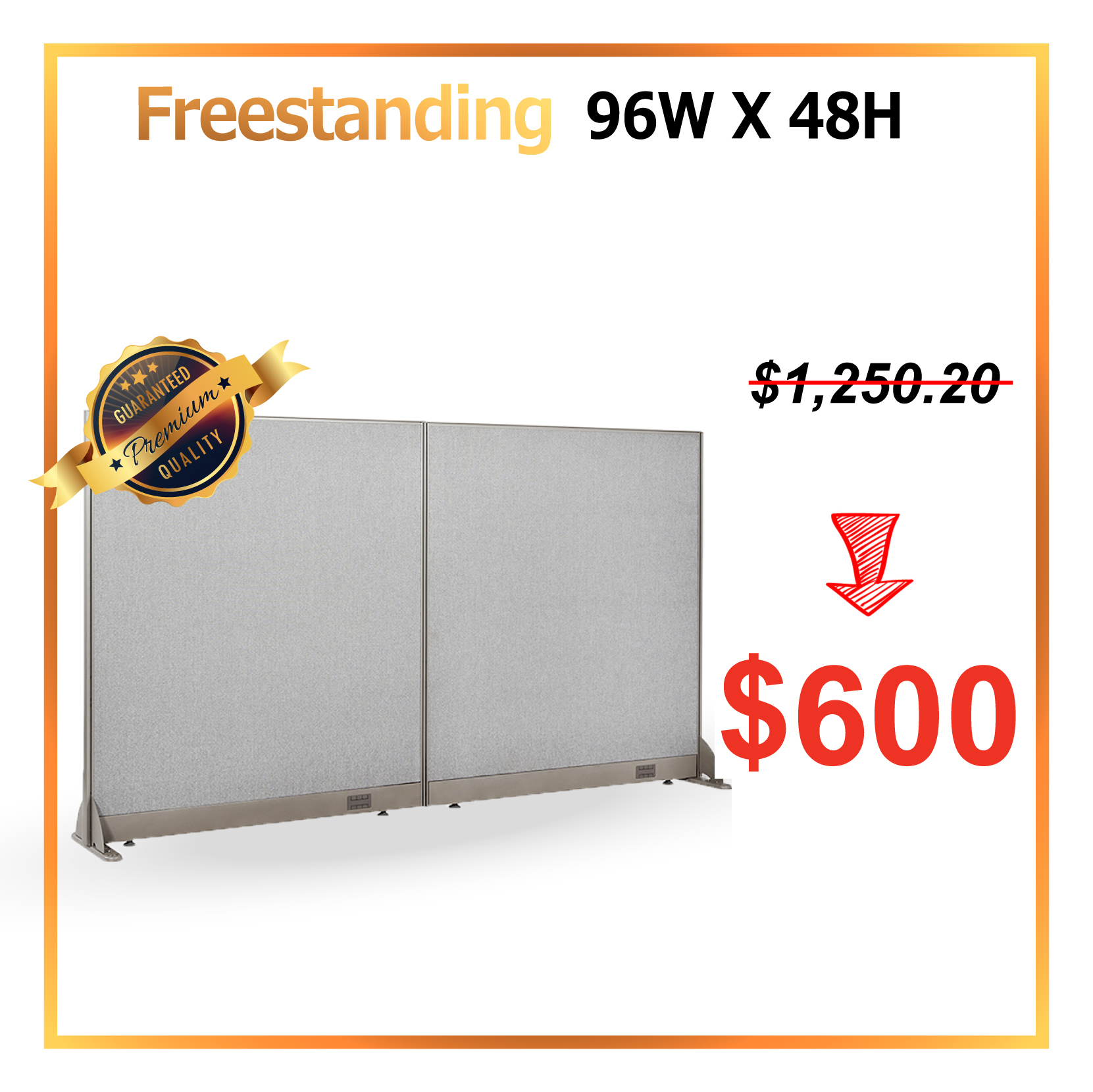 [JULY Special] GOF Office Freestanding Partition Room divider Wall divider Wall panel Office Wall (96 X 48)