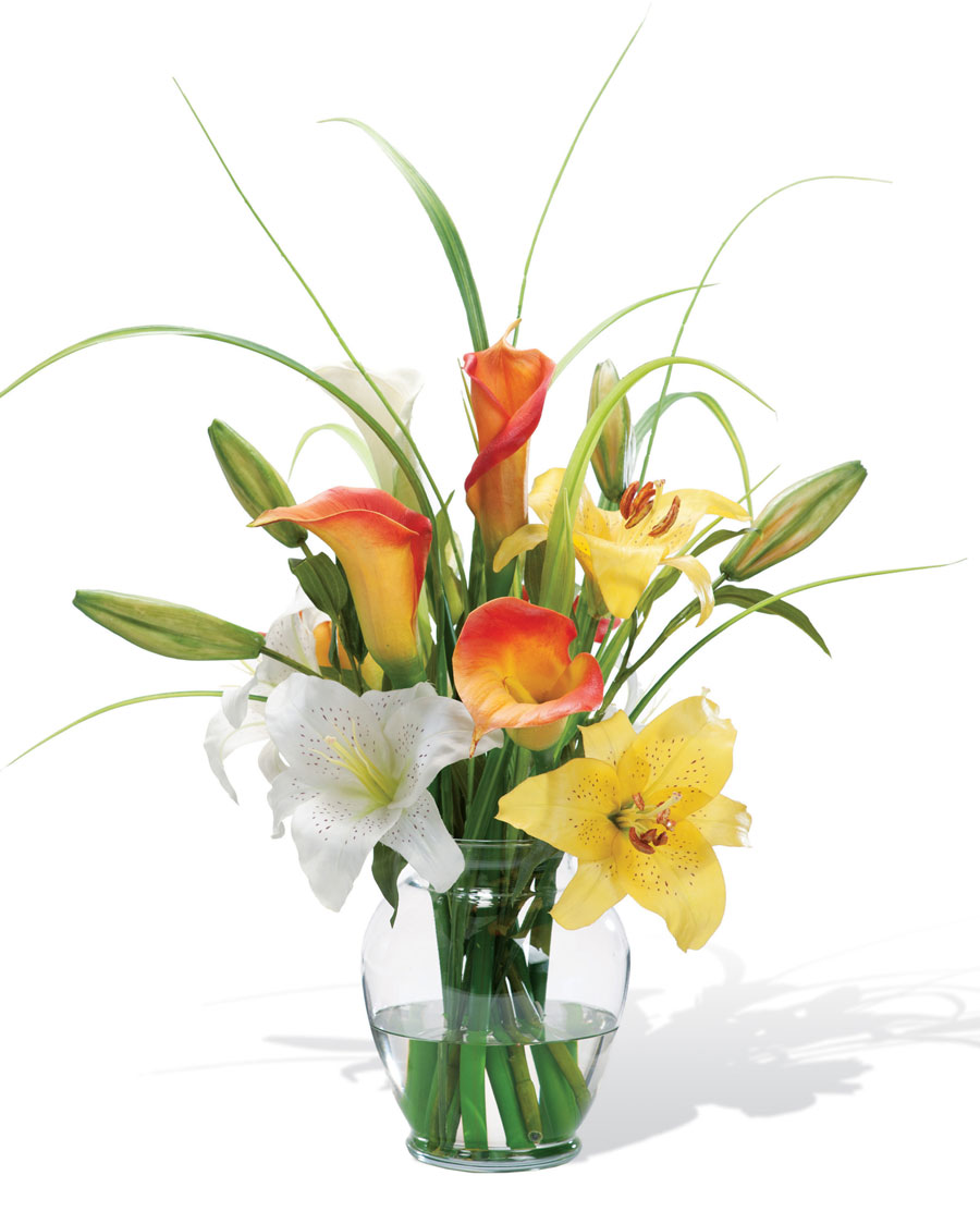 Calla Lily Amp Day Lily Silk Flower Accent Walmart