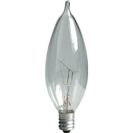 (GE 19153-12 60-Watt Crystal Clear Bent Tip CA10 (Pack of 12))
