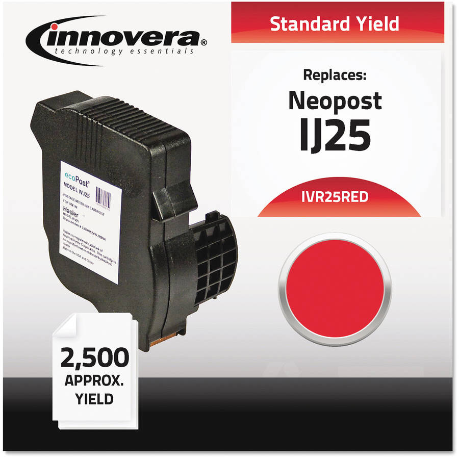 Innovera 25RED Compatible, Remanufactured, 3300028D Postage Meter, Red