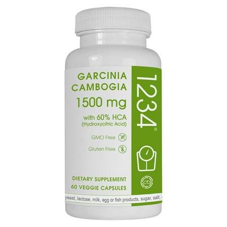Creative Bioscience 1234 Garcinia Weight Loss Pills  1500 Mg  60 Ct