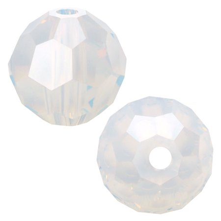 Swarovski Crystal, #5000 Round Beads 4mm, 12 Pieces, White Opal