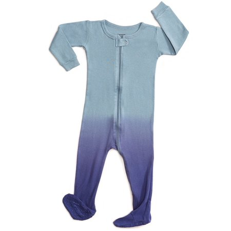 Leveret Organic Cotton Tie-Dye Blue Footed Pajama Sleeper 5 Years Cotton Footed Sleeper Pajamas