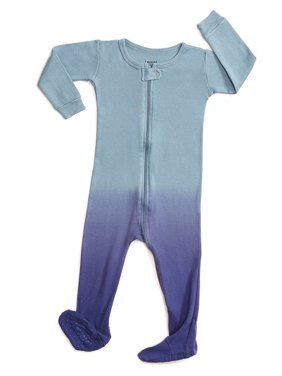 Product Image Leveret Organic Cotton Tie-Dye Blue Footed Pajama Sleeper 5  Years 844f0c92d