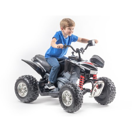 12 Volt Honda TRX in Black and Red - Own the neighborhood with this exciting new ATV!
