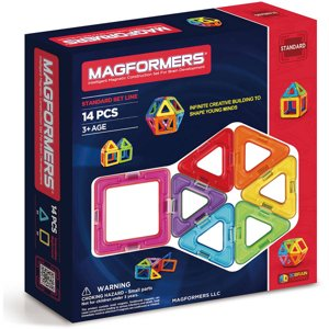 Magformers Rainbow 14-Piece Magnetic Construction Set