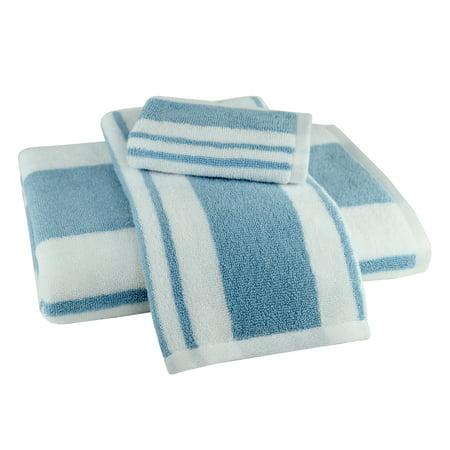 Hamilton Stripe 3 Piece Towel Set in Blue