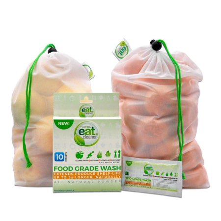 Eat Cleaner Fruit and Vegetable Wash Powder Washes Up to 300 lbs of Produce, Removes Harmful Residue Water Canâ??t, Only Patented and Lab Proven Veggie Wash in Powder Form - -