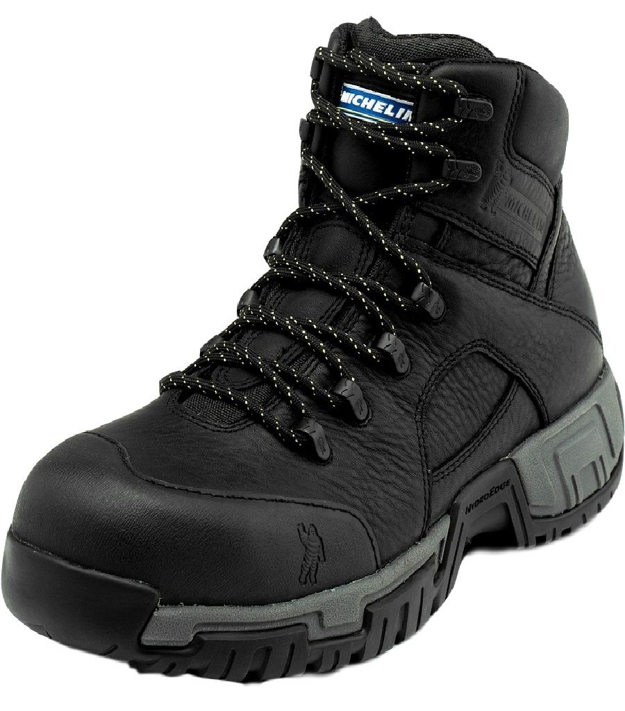 Michelin Work Boots Mens Hydroedge Steel Toe Puncture Black XHY866 by Michelin