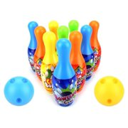 Toy Bowling Play Set for Children Sport Bowler Children's 12 Piece Toy Bowling Set w/ 10 Pins, 2 Bowling Balls, Carrying Case