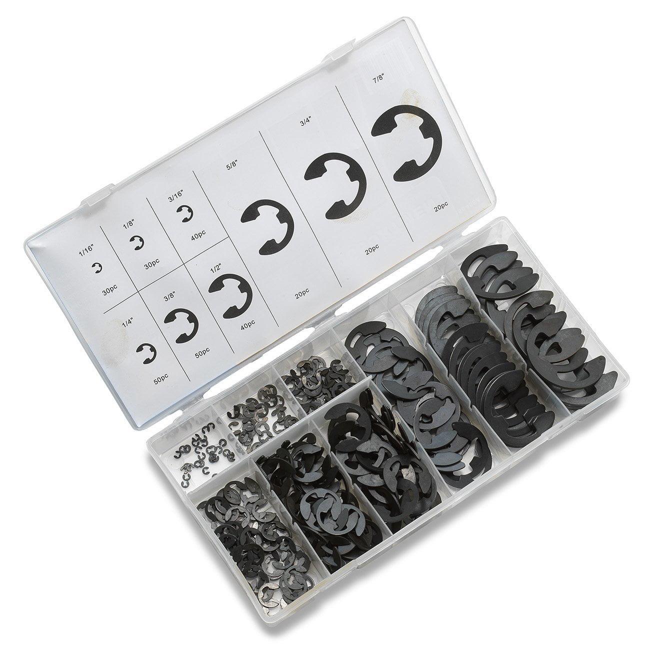 Neiko E-Clip Assortment Kit (300-pack) (9 sizes)