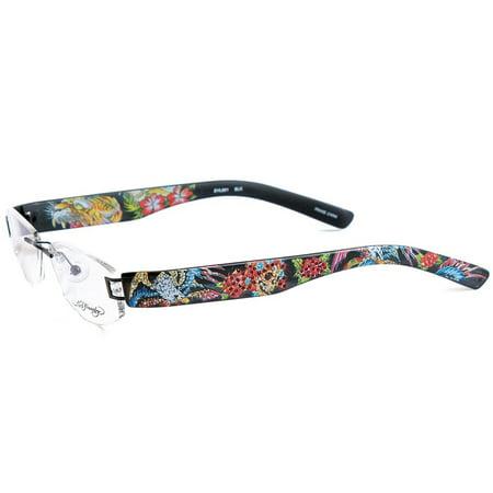 Ed Hardy EHL-801 Lite Designer Eyeglasses - Red - Walmart.com