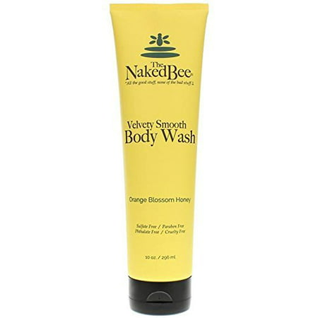 The Naked Bee Velvety Smooth Body Wash, 10 Ounce, Orange Blossom Honey