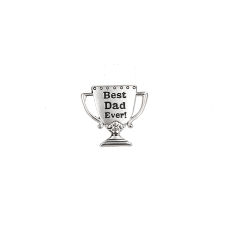 Best Dad Ever Grand Prize Trophy Lapel Pin - By