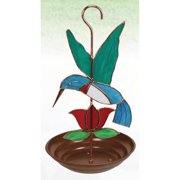 Gift Essentials Hummingbird with Red Flower Bird Feeder