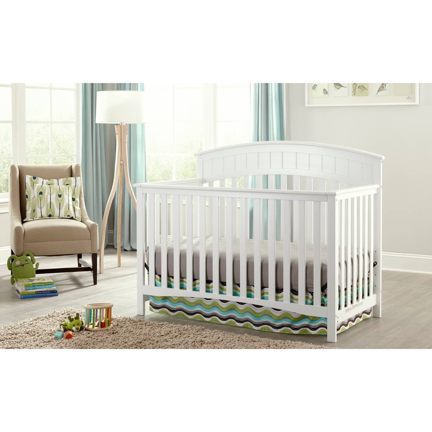 Graco Charleston 4-in-1 Convertible Fixed-Side Classic Crib, Choose Your Finish