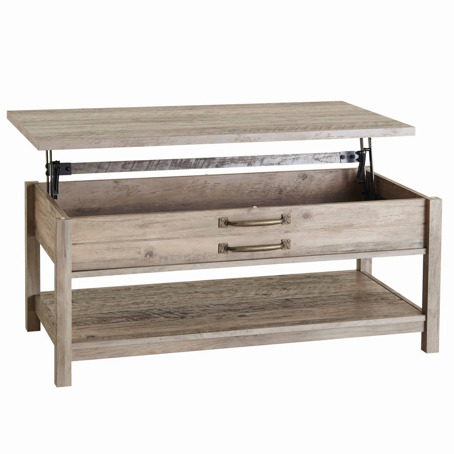 Better Homes & Gardens Modern Farmhouse Lift-Top Coffee Table, Rustic Gray Finish by Sauder Woodworking