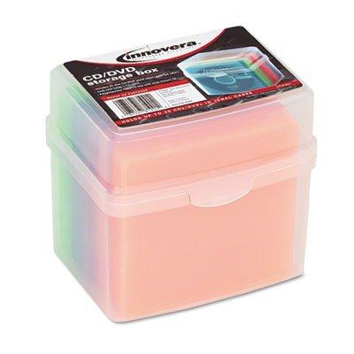 Innovera CD/DVD Slim Storage Box, Holds 20 Disks
