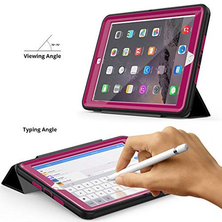 New iPad 9.7 2018/2017 CASE with Pencil Holder By BronteTech- Heavy Duty with Three Layer Protection - Shockproof - iPad 6th/5th Gen. ( Model A1893/A1954/A1822/A1823) - image 3 de 7