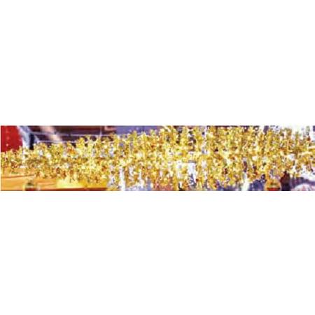 9' LED Lighted Gold Manhattan Lightspray Commercial Display Decoration
