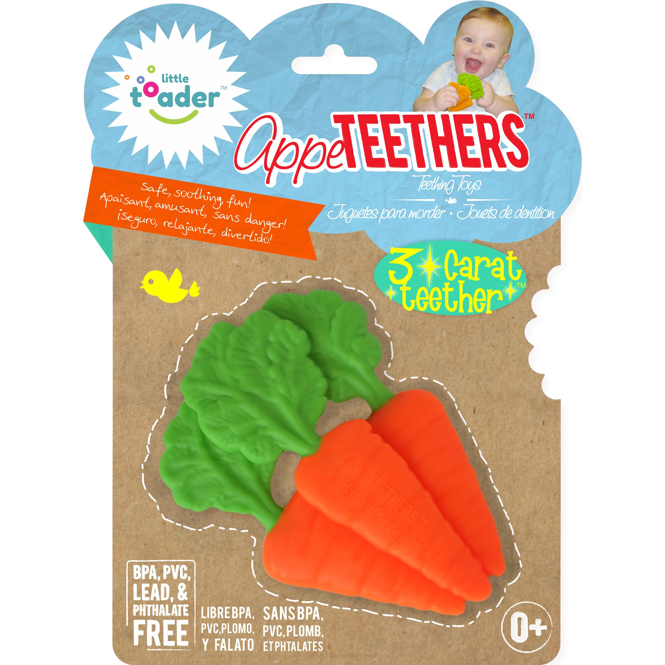 Little Toader Appe TEETHERS Teething Toys, 3 Carat Teether