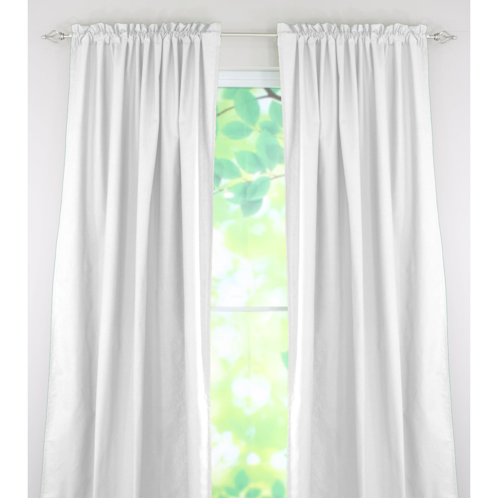 Brite Ideas Living Duck Black Rod Pocket Curtain Panel