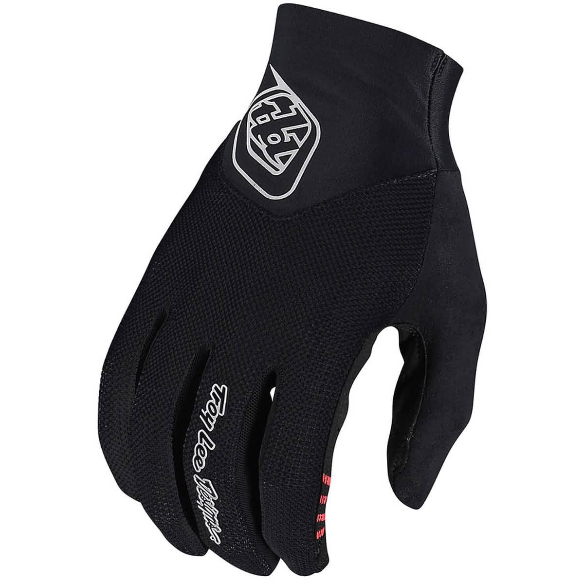 Black Troy Lee Designs Ace 2.0 Mens BMX Gloves