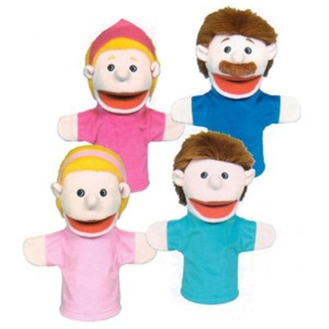 Get Ready 350 Caucasian family puppet set- 10 inch