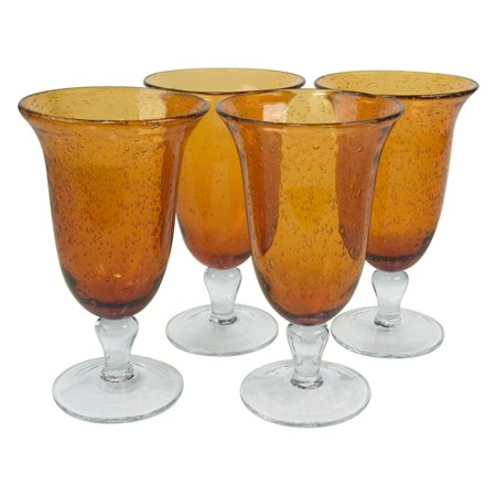 Amber Iced Tea Glass (Artland Inc. Iris Amber Ice Tea Glasses - Set of 4 )