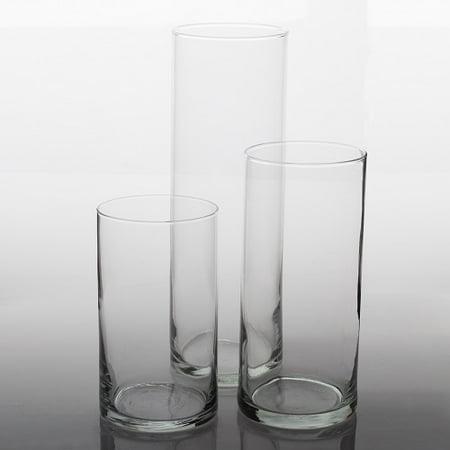 Eastland Cylinder Vases 6 75 105 Set Of 3 Walmart