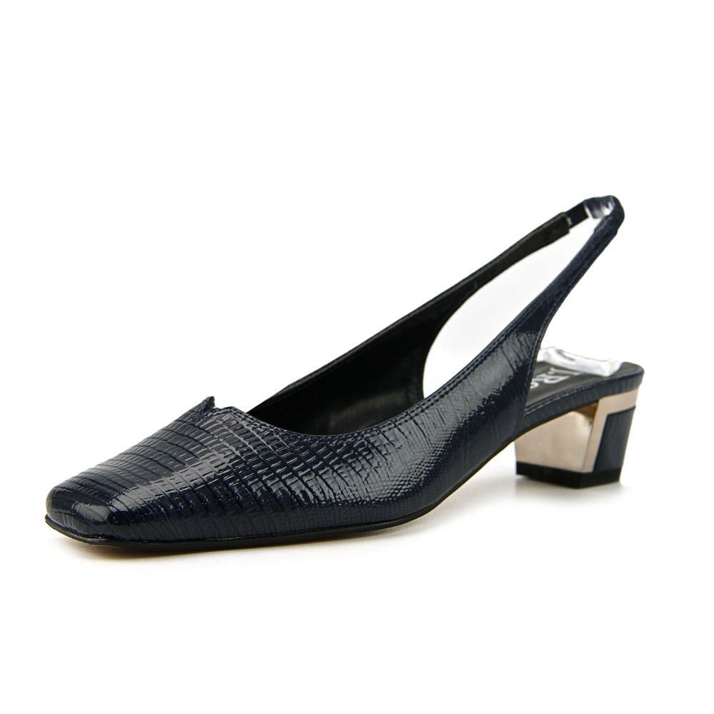 J. Renee Bev W Square Toe Synthetic Slingback Heel by J. Renee