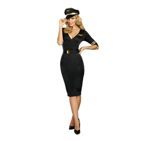 Dreamgirl Women's Flight Captain Pilot Costume (Pilot Women)